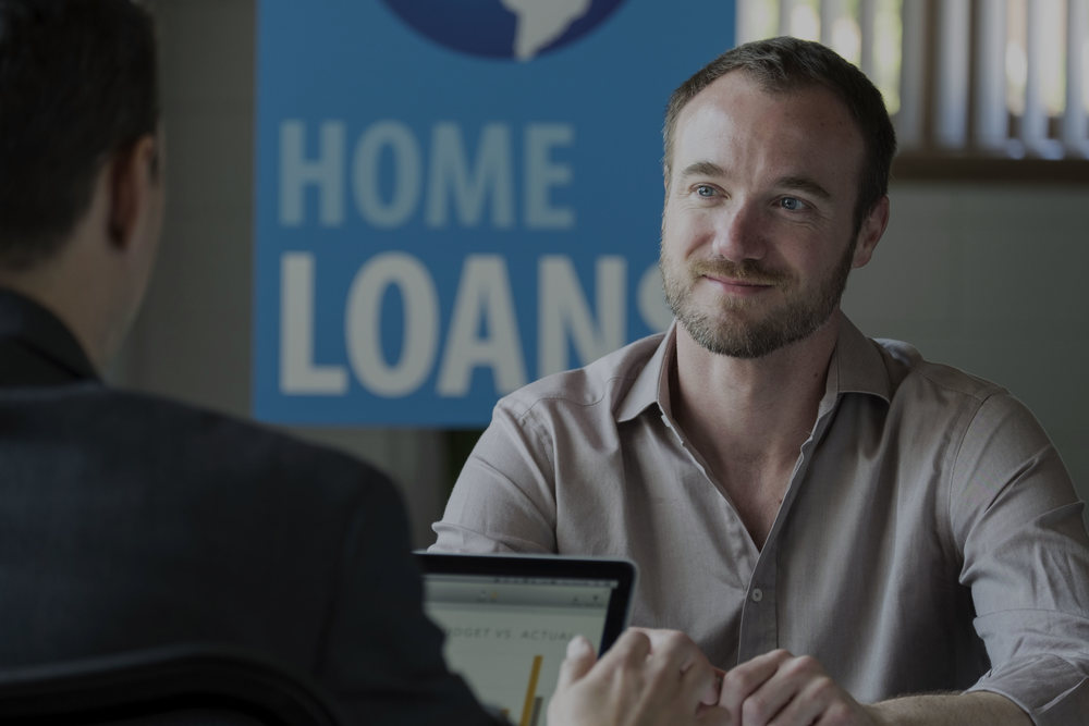 Man getting a home loan.