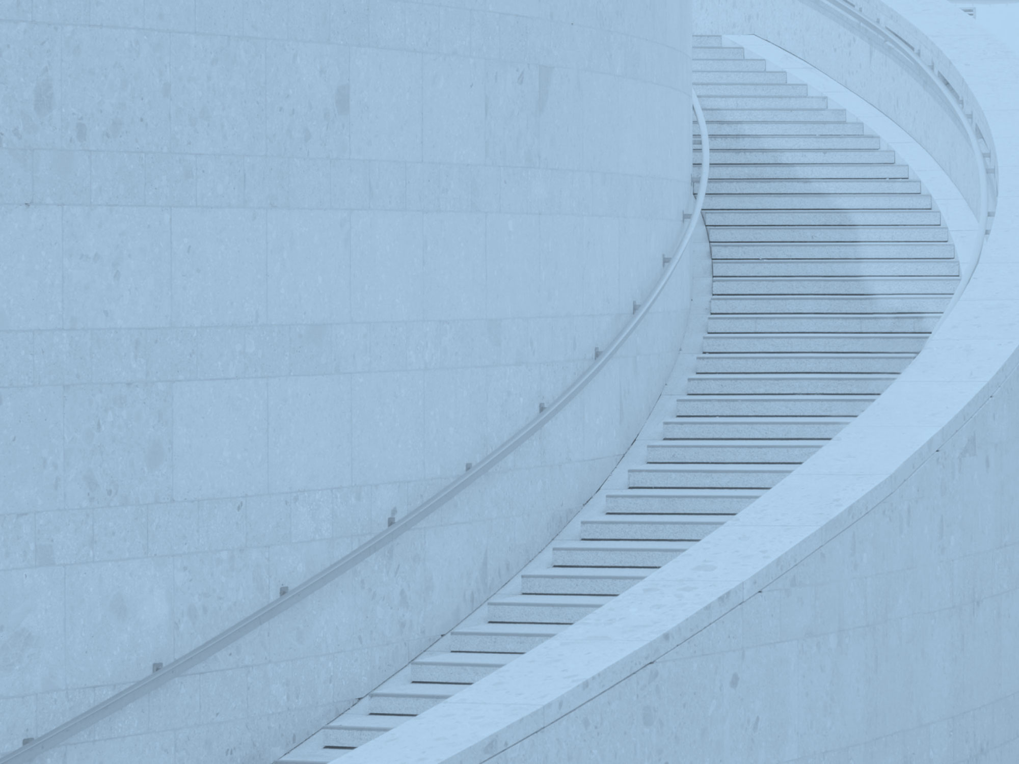 Blue stairs