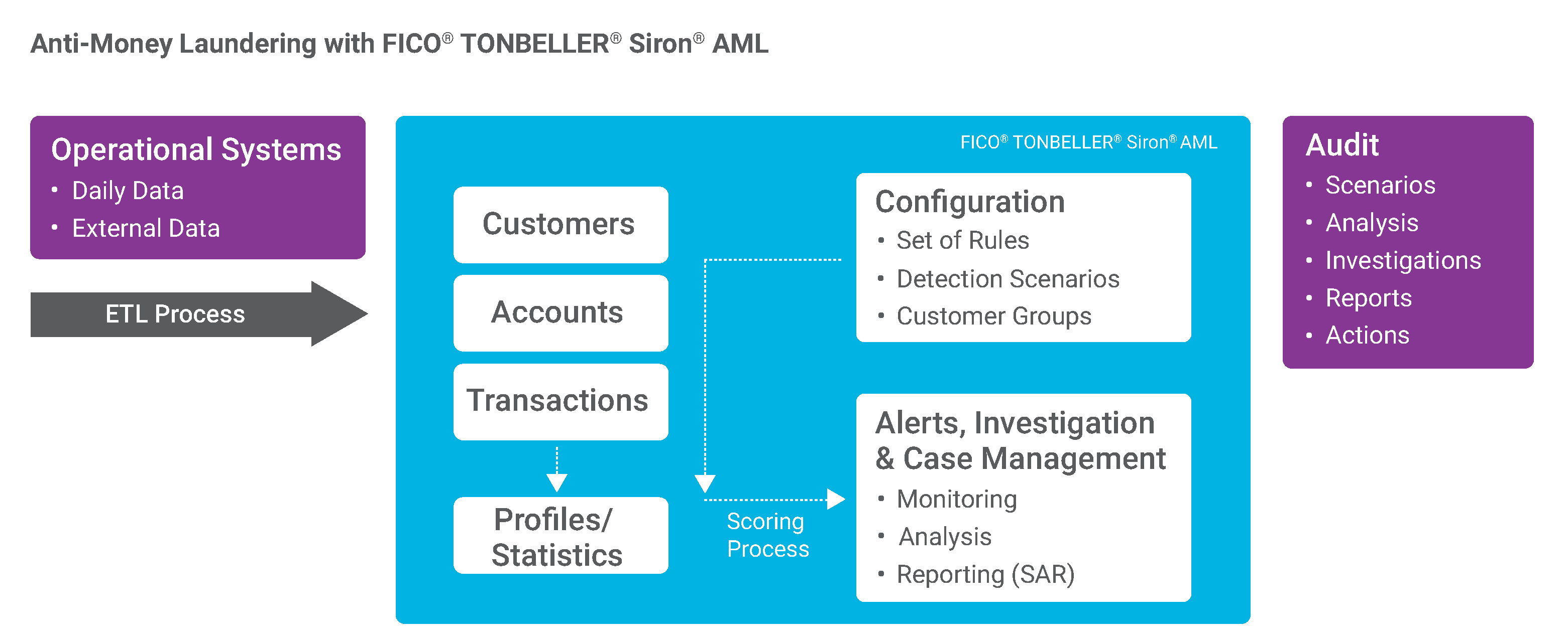 Anti-Money Laundering (AML) & Transaction Monitoring Workflow with Siron