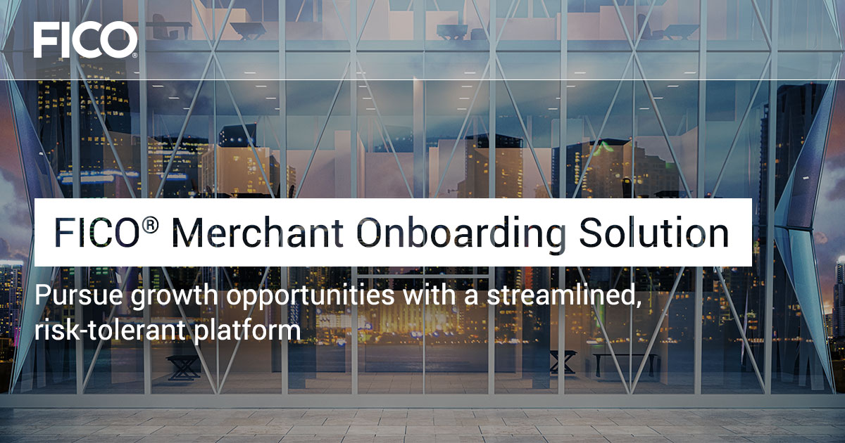 FICO® Merchant Onboarding Solution