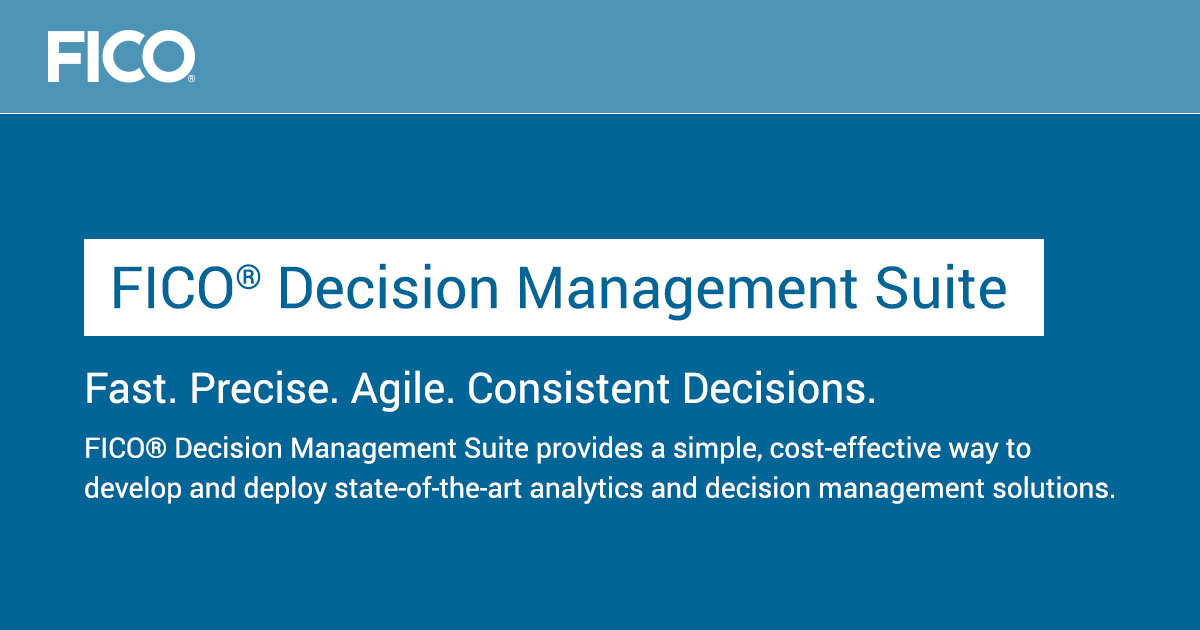 FICO® Decision Management Suite