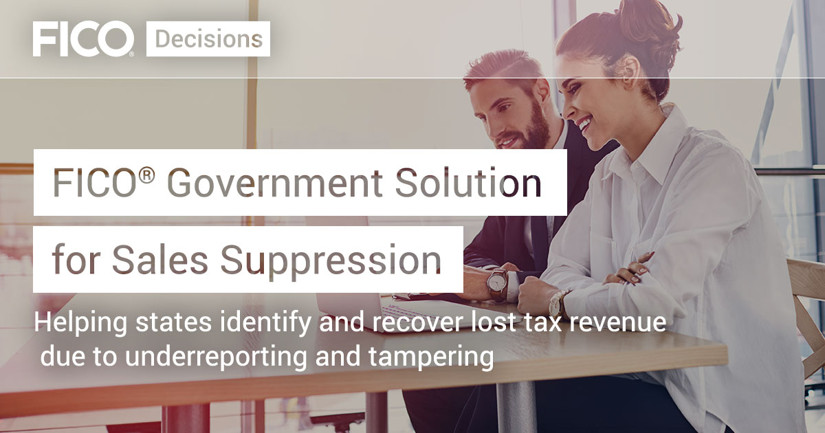 FICO® Government Solution for Sales Suppression