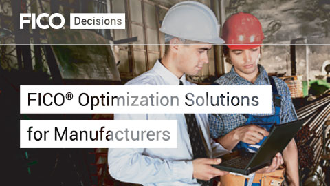 FICO Optimization Solutions for Manufacturers