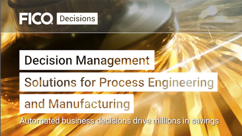 Decision Management Solutions for Process Engineering and Manufacturing