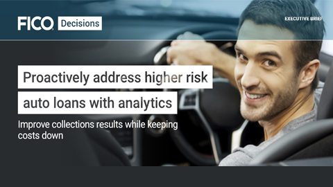Proactively address higher risk auto loans with analytics