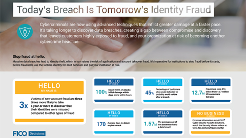 Today's Breach Is Tomorrow's Identity Fraud