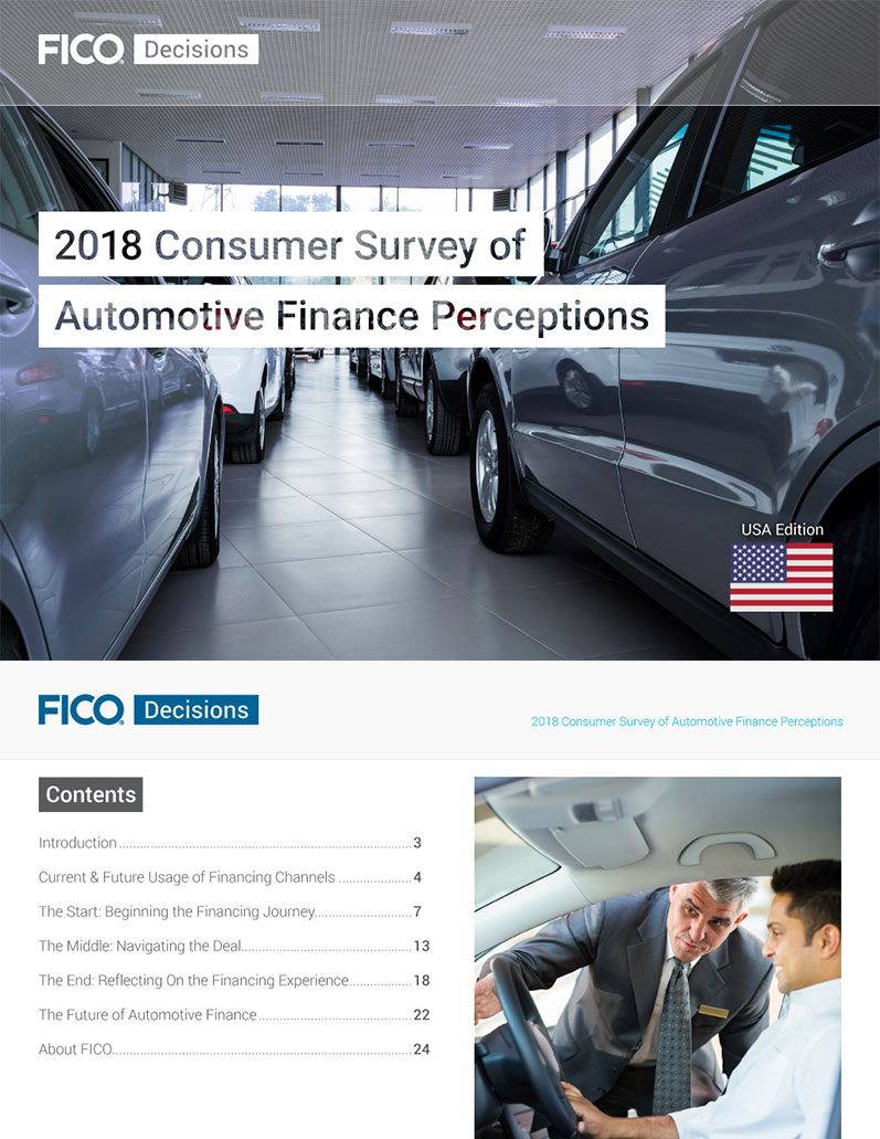 2018 Consumer Survey of Automotive Finance Perceptions USA