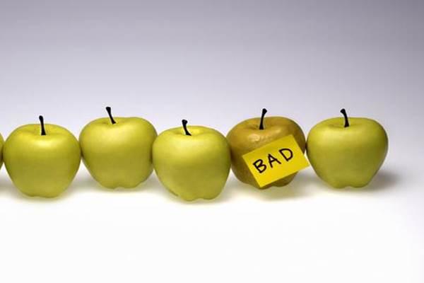 Photo of bad apple