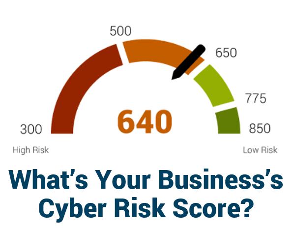 Cyber risk score gauge