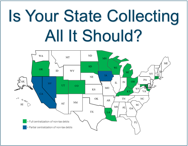 By centralizing collections in government, agencies can increase revenue by tens or even hundreds of millions of dollars each year.