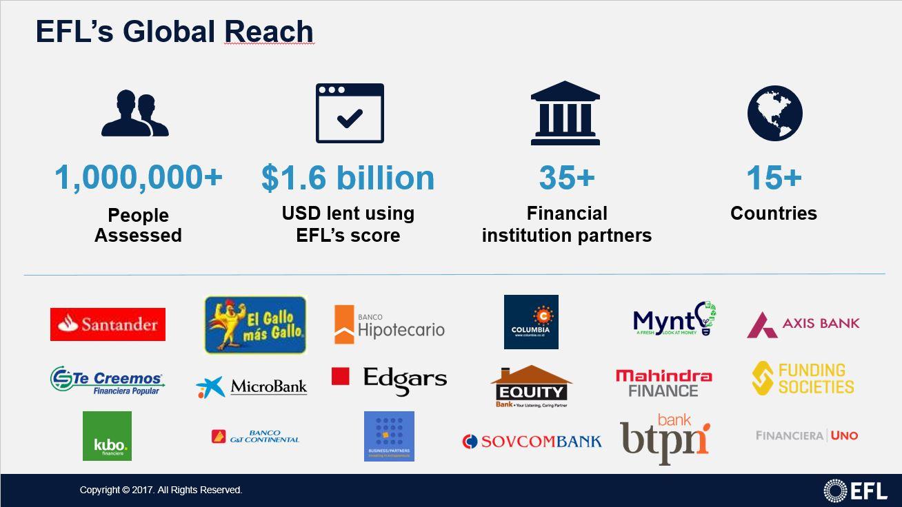 EFL numbers and global customers
