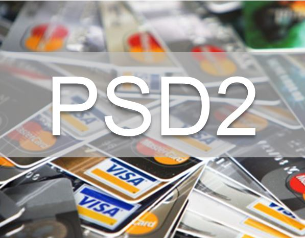 Credit cards with PSD2 superimposed