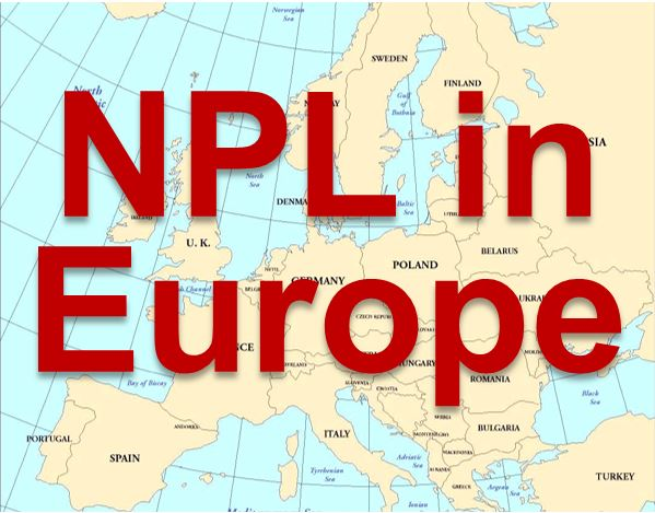 NPL in Europe on European map