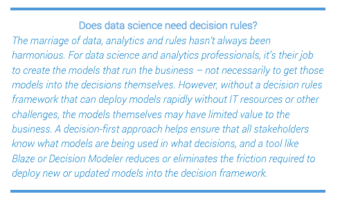 Data science and decision rules
