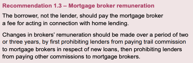 Mortgage Broker Commission Recommendation
