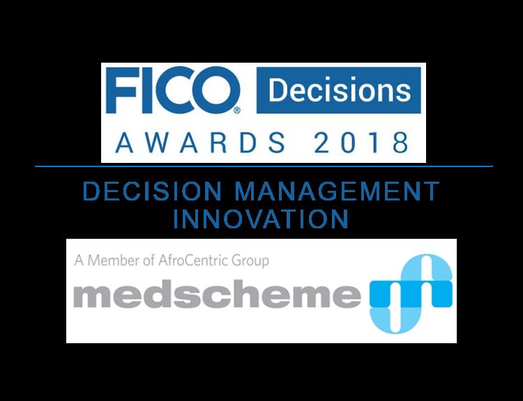 Medscheme logo and FICO Decisions Awards logo